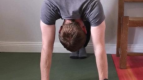 Handstand/Pike Shrugs