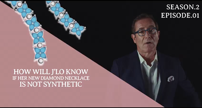 How are synthetic diamonds identified