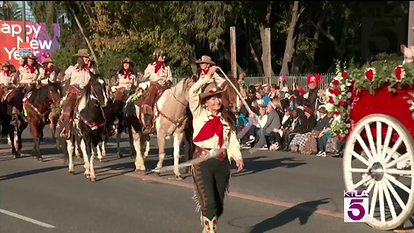 Judy  Taylor Rose Bowl Parade KTLA