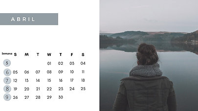Various Colors Scenery Photo Calendar