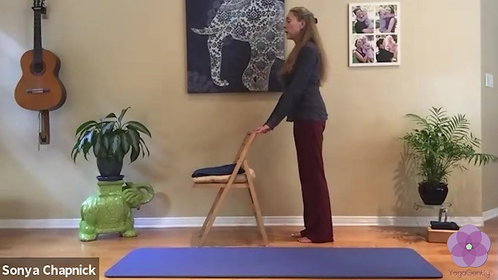 YOGAGENTLY - Ocular motor sequences to enhance coordination of mindbodybreath & are mobility in Warrior to enhance balance