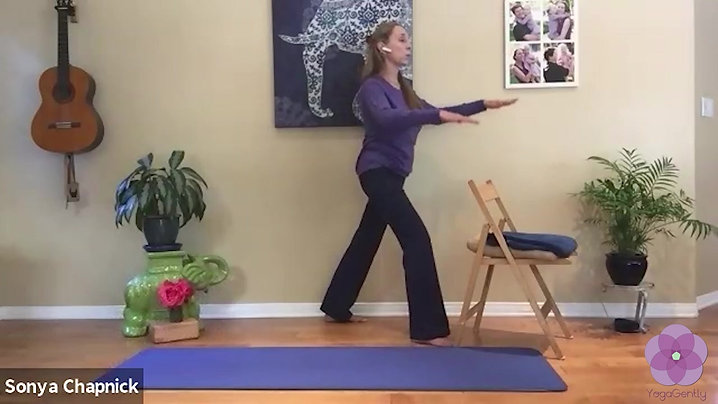 YogaGently - Intention to replenish vital energy, create more lateral space