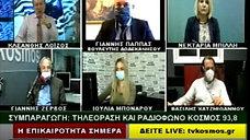 Ο Βουλευτής Δωδεκανήσου ΝΔ Ιωάννης Παππάς μέσω skype στην εκπομπή του Κλεάνθη Λοΐζου στο TVKosmos 13-1-2021