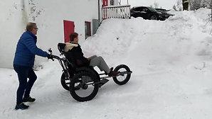 Test av AL-trac med motor på vinteren