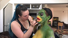 Greta Gremlin (ComicCon 2018) Makeup Application Assisted by Brittany Turpen