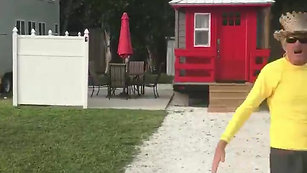 Scooter Visits the Tiny Houses
