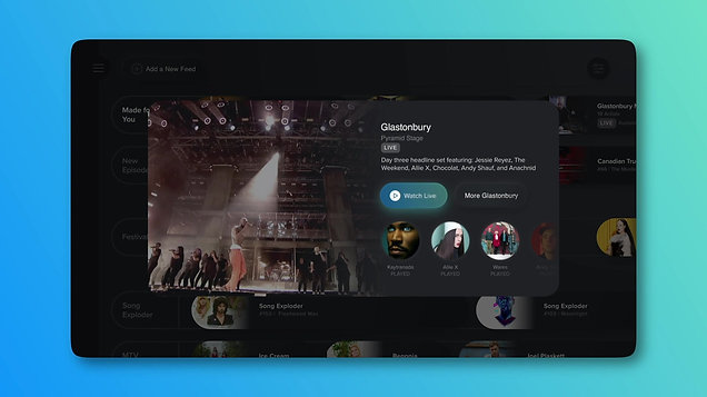Designing a Streaming Music User Experience – EPG Screen