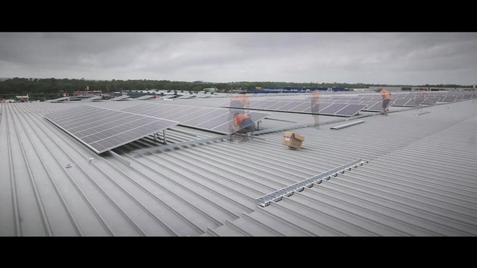 Solar installation by BTS Energy, Lindt Factory Outlet