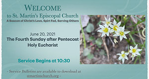 Livestream Holy Eucharist Service for the 4th Sunday after Pentecost