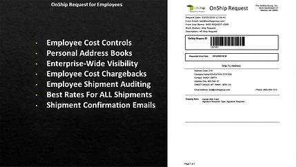 OnShip Request, HazMat & Special Label Services