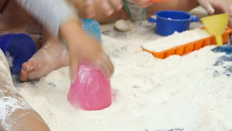 Kids Playing With Bread Flour