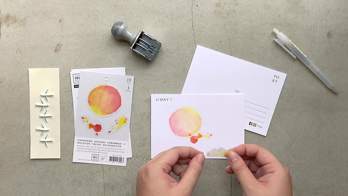 How to use MU Sticky Notes to make a  post card.