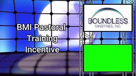 Pastoral Training Incentive