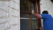 ERABOS® Einbruchsversuch bei gekipptem Fenster - Praxistest - Sicherungsriegel / Perspektive von außen