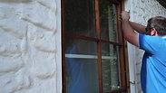 ERABOS® Einbruchsversuch bei geschlossenem Fenster - Praxistest - Sicherungsriegel / Perspektive von außen