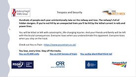 Trespassing and Security - Rail Safety Week