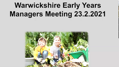 Early Years Managers Meeting