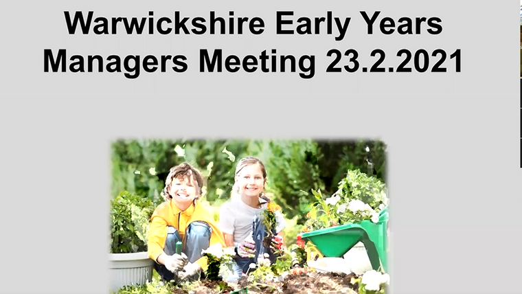 Warwickshire Early Years Manager Meetings