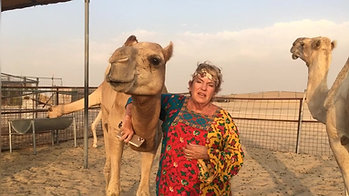 The German Camel Lady on her Camel farm in Dubai