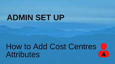 How to Add Cost Centre Attributes