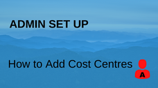 How to Add Cost Centres