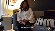 Wafaa Tajdin describing her experience with Eolisair