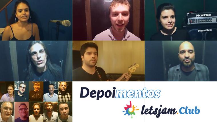 Depoimentos e amostra das sessões com alguns membros Letsjam.CLub