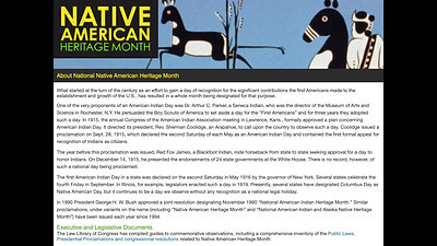 November Native American Heritage Month PSA