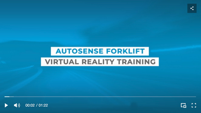 Forklift virtual reality training