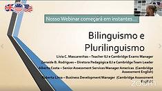 Webinar - Bilinguismo e Plurilinguismo