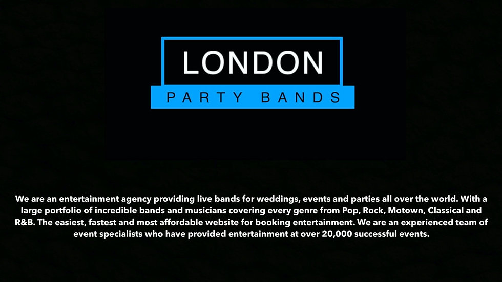 London Party Bands - Opener for Website