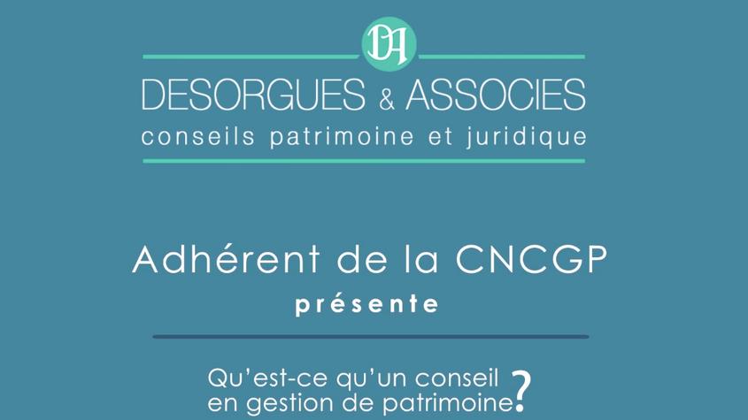 Présentation Desorgues & Associes