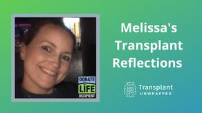 Melissa's Transplant Reflections