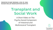 Social Work and Transplant