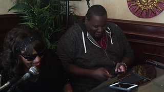 """Kitty Daniels sings """"At Last"""" to actor Quinton Aaron"""