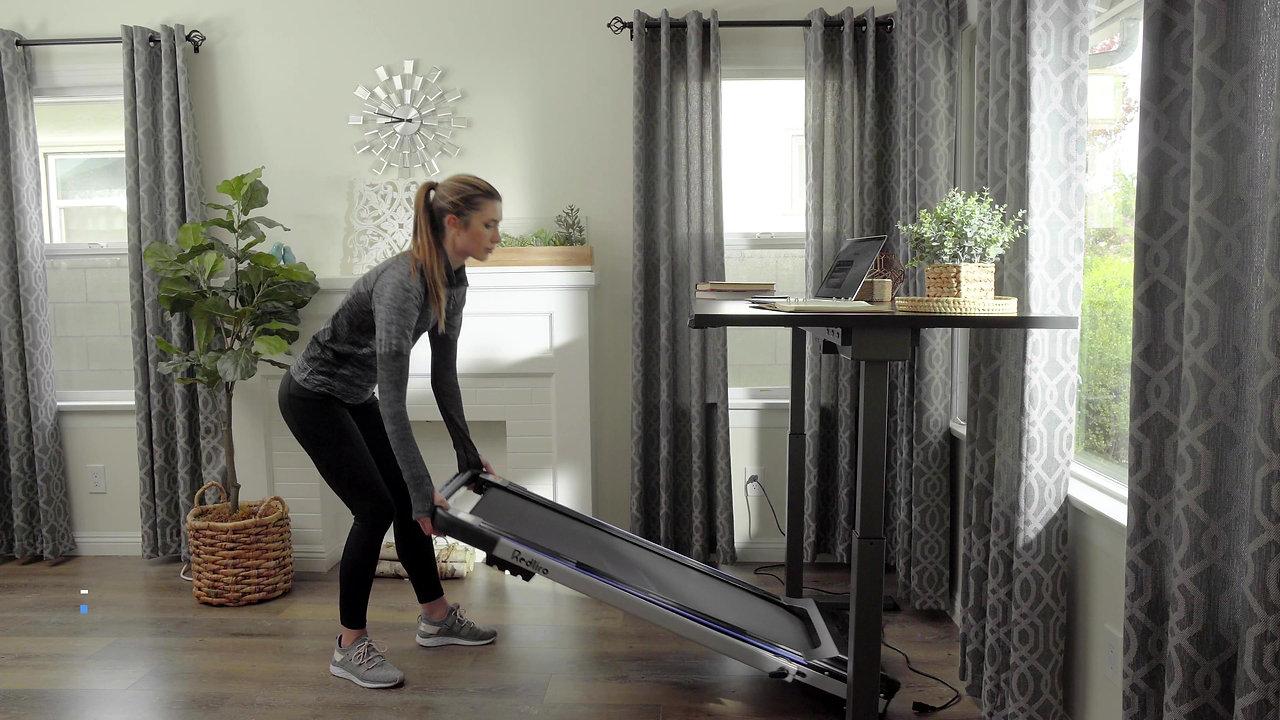 Redliro 2-in-1 Under Desk Folding Treadmill