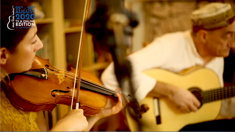 Miroslav Tadić (gitara) & Yvette Cornelia Holzwarth (violina i vokal)
