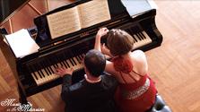The Latsos Piano Duo plays Schubert's Fantasy in F Minor, D940
