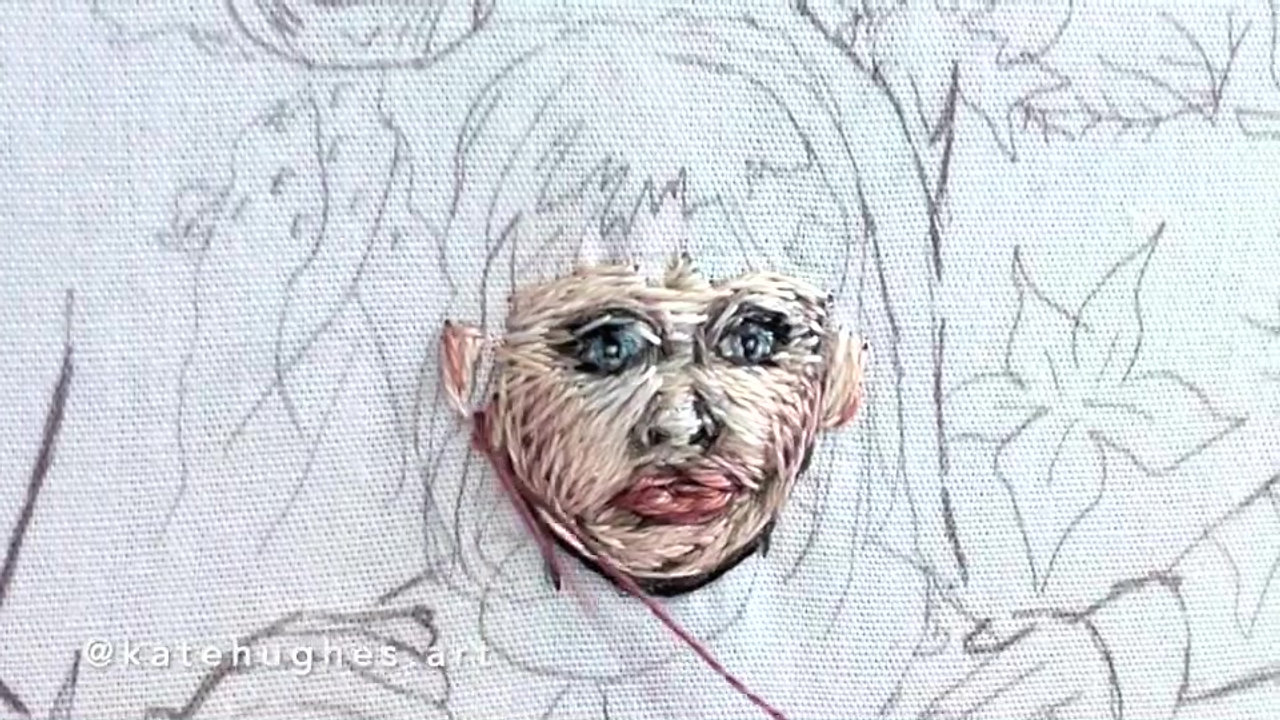 IGTVKatie's Face Time-Lapse #ThreadpaintingBTS - Large 540p