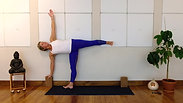 Yoga 101 ~ Ardha Chandrasana (demi-lune) au mur