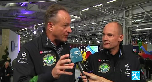 Interview Bertrand Piccard, Andre Borshberg Solar Impulse