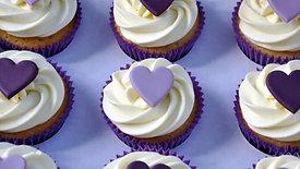 Purple Heart Vegan Cupcakes & Vegan Buttercream