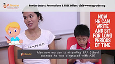 """Snipped"" Mdm Asrina Lelepadang & Matthew Khoo - Testimonial for AGrader Learning Centre"