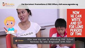 """""""Snipped"""" Mdm Asrina Lelepadang & Matthew Khoo - Testimonial for AGrader Learning Centre"""