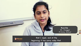 """Snipped"" Kanika - Testimonial for AGrader Learning Centre"