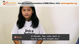 """""""Snipped"""" Ding Yan - Testimonial for AGrader Learning Centre"""