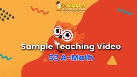 [Sample Teaching Video] S3 A-Math