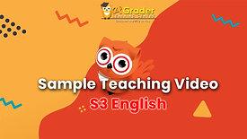 [Sample Teaching Video] S3 English