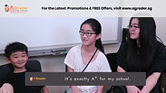 """""""Snipped"""" Mdm Catherine, Zi Ying & Jun Hong - Testimonial for AGrader Learning Centre"""