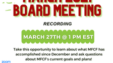 MFCF March Board Meeting